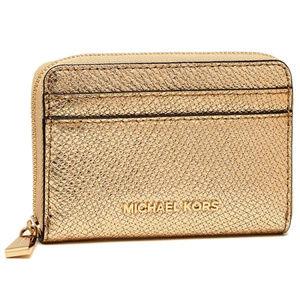 MICHAEL Michael Kors Gold Zip-Around Card Case